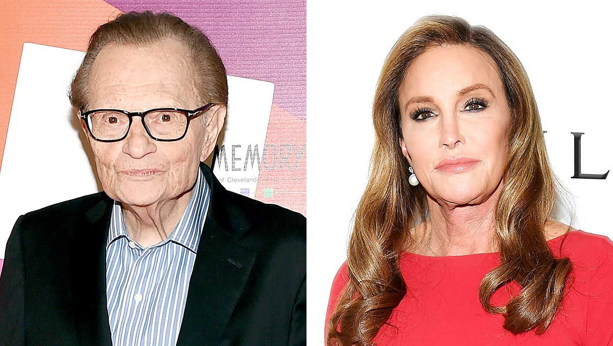 Larry King and Caitlyn Jenner