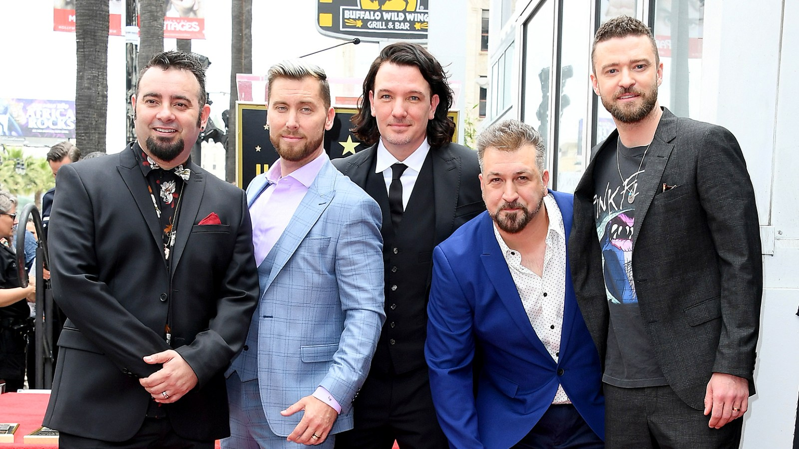 Nsync Reunites For Hollywood Walk Of Fame Star Ceremony