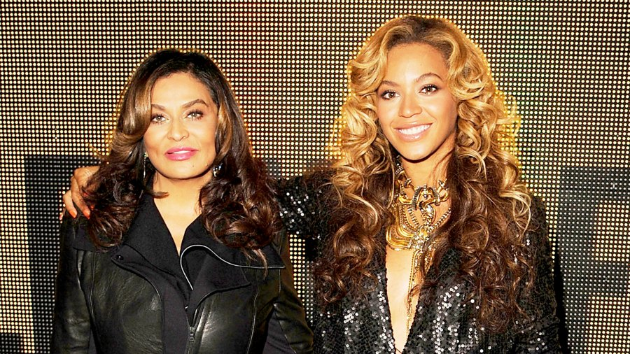 Tina Lawson and Beyonce attend the 2011 Launch Of House Of Dereon By Beyonce And Tina Knowles at Selfridges in London, England.