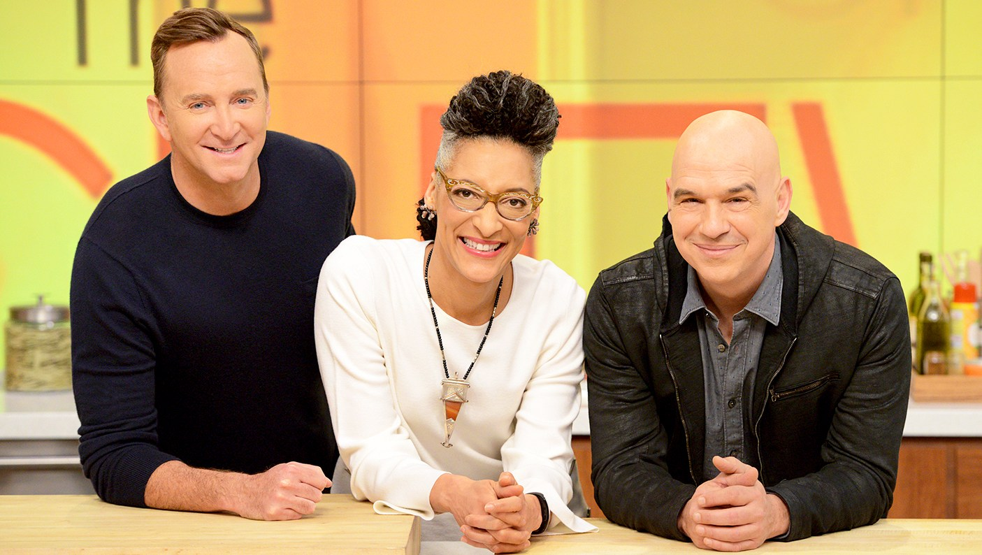 Co-hosts Clinton Kelly, Carla Hall and Michael Symon on 'The Chew'
