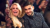 Britney Spears and Sam Asghari attend 2017 Art Hearts Fashion LAFW Fall/Winter at The Beverly Hilton Hotel in Beverly Hills.