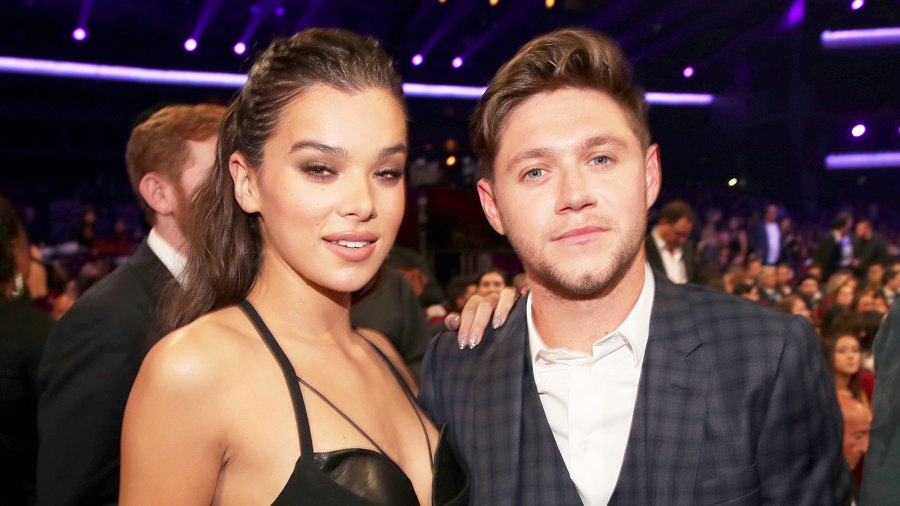 Hailee Steinfeld and Niall Horan during the 2017 American Music Awards at Microsoft Theater in Los Angeles, California.