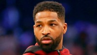 Tristan Thompson #13 of the Cleveland Cavaliers at Madison Square Garden in New York City.