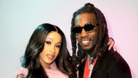 Cardi B and Offset backstage during the 2018 Premios Billboard de la Musica Latina at the Mandalay Bay Resort and Casino in Las Vegas, Nevada.