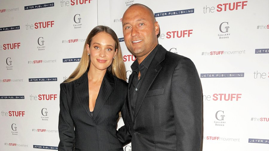 """Derek Jeter and wife Hannah attend Dr. Sampson Davis and Sharlee Jeter's """"The Stuff"""" book launch at 48 Lounge on May 14, 2018 in New York City."""