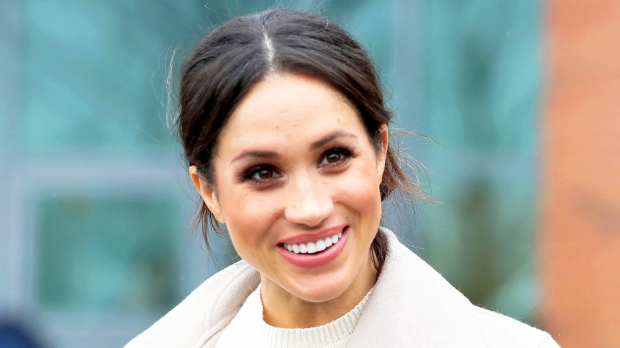 Meghan Markle departs from Catalyst Inc, Northern Ireland's next generation science park on March 23, 2018 in Belfast, Nothern Ireland.