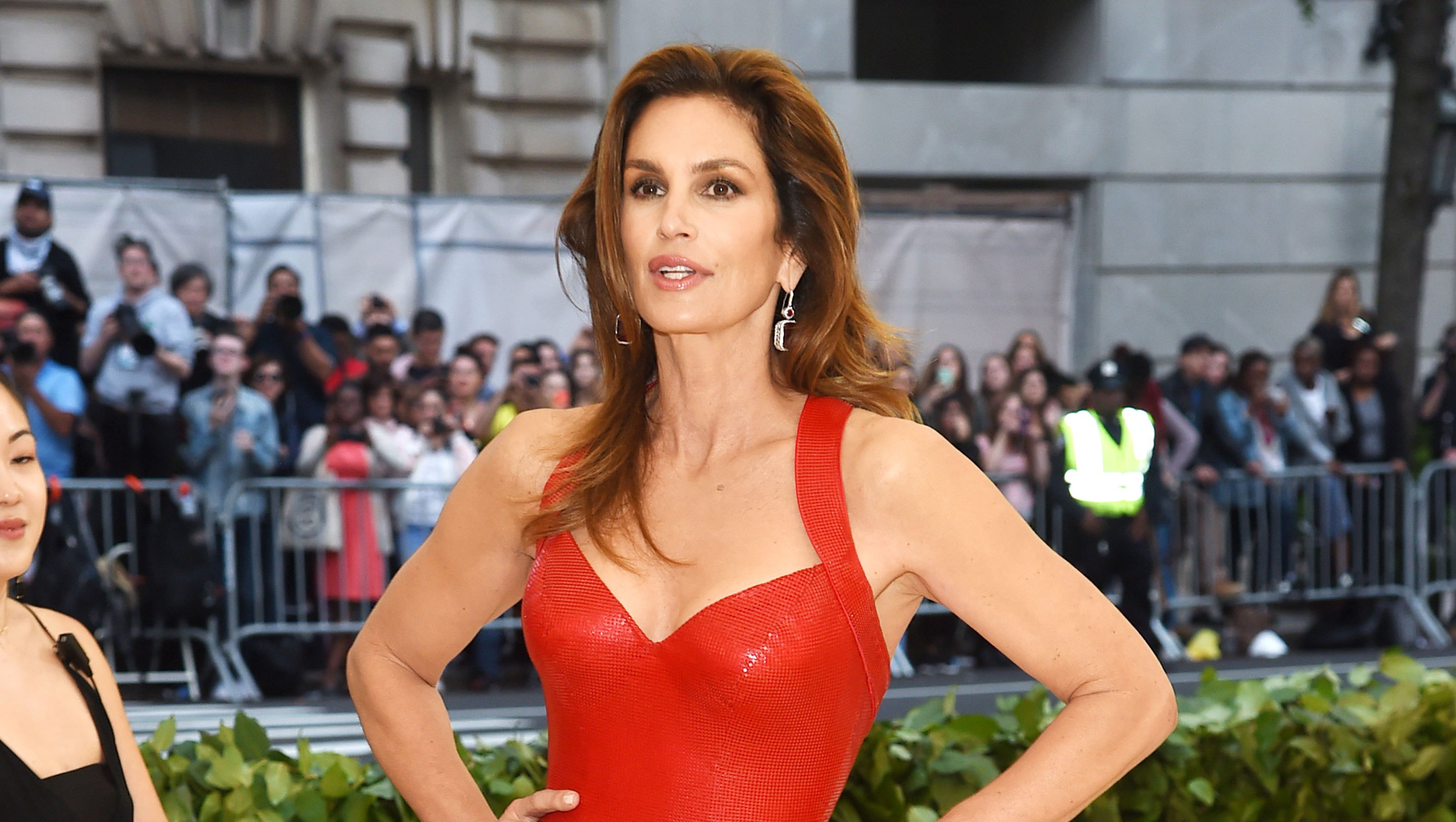 Cindy Crawford met 18