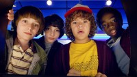 Noah Schnapp, Finn Wolfhard, Gaten Matarazzo and Caleb Mclaughlin in 'Stranger Things' Season 2