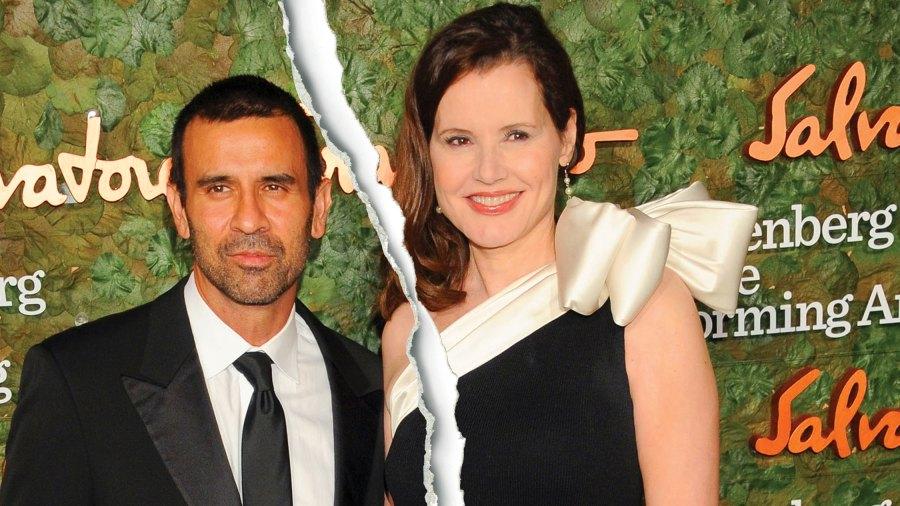 Geena Davis and husband Reza Jarrah
