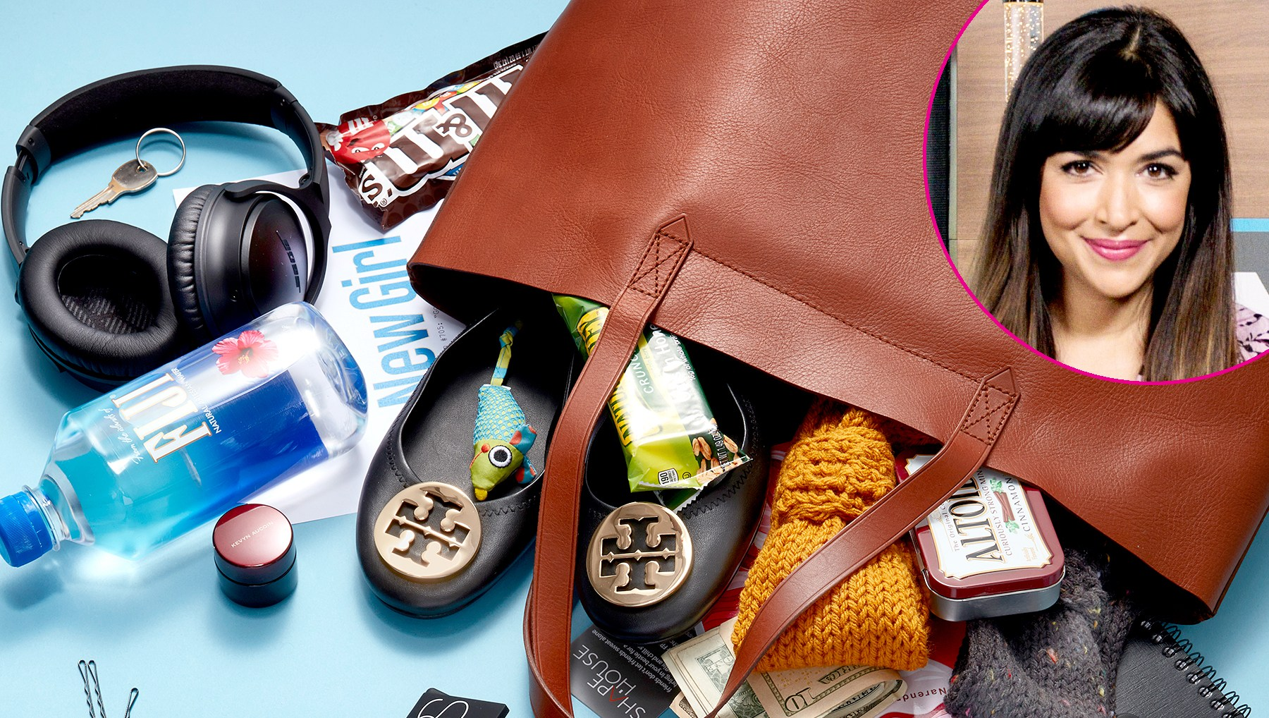 Hannah Simone's bag