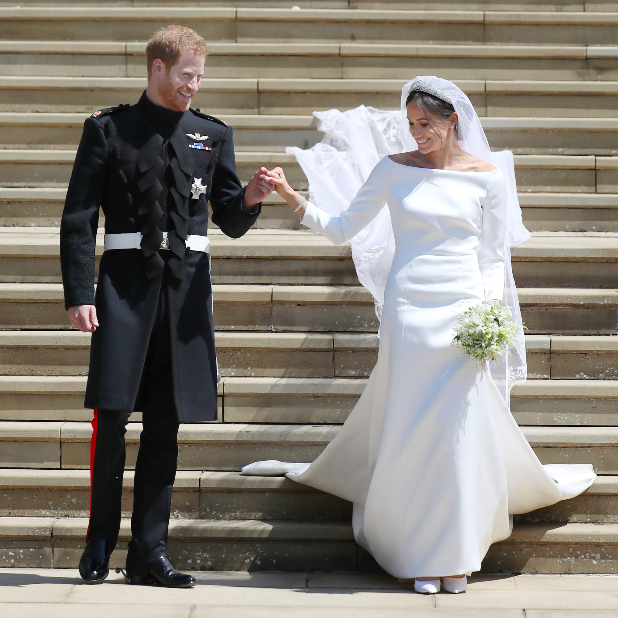 Prince Harry and his bride Megan Markle became husband and wife 05/19/2018 97