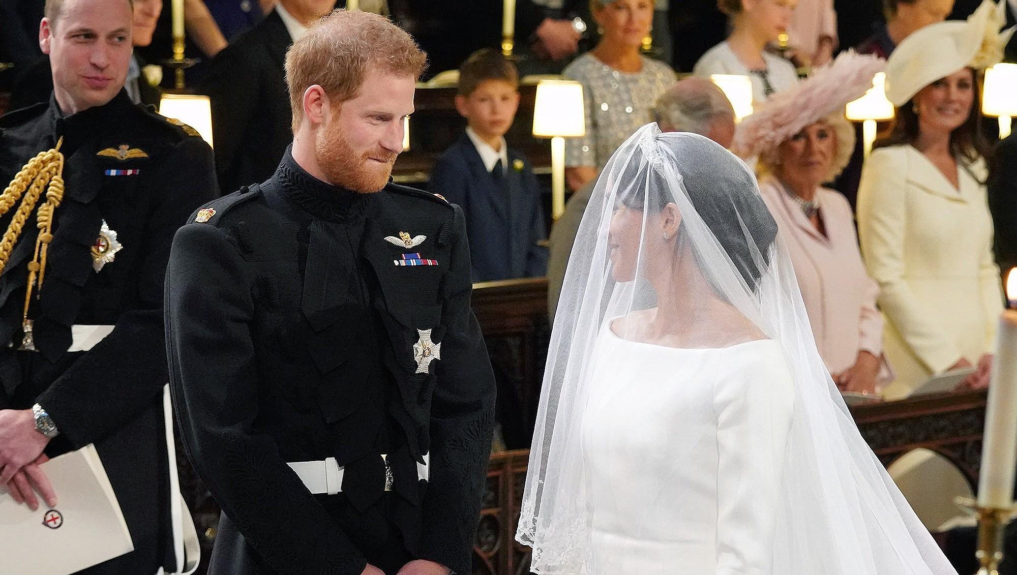 Prince Harry, Duchess Meghan Markle, Royal Wedding, Lip Bite