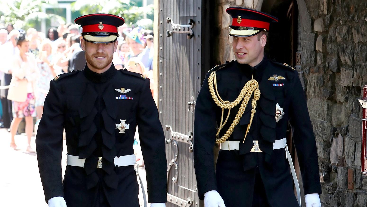 Znalezione obrazy dla zapytania prince harry and william wedding