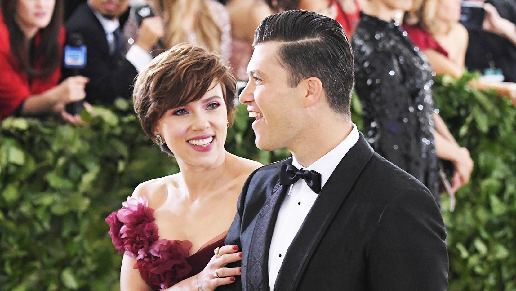 Scarlett Johansson Colin Jost Met Gala 2018