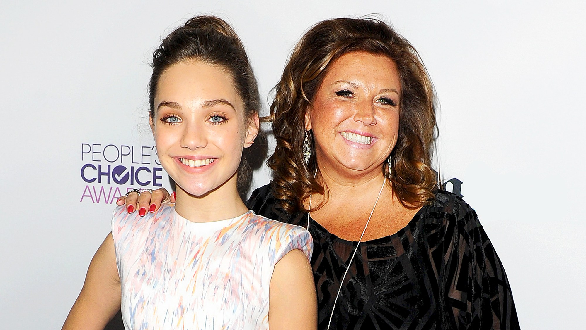 Maddie Ziegler and Abby Lee Miller attend after party for 2016 People's Choice Awards at Club Nokia in Los Angeles, California.