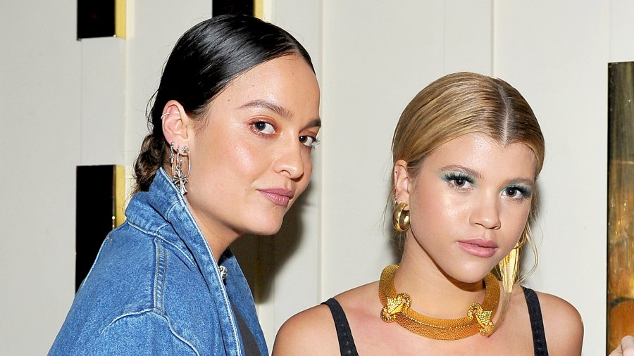 Chloe Bartoli and Sofia Richie attend the DL1961 campaign 2017 launch at The Nice Guy in Los Angeles, California.