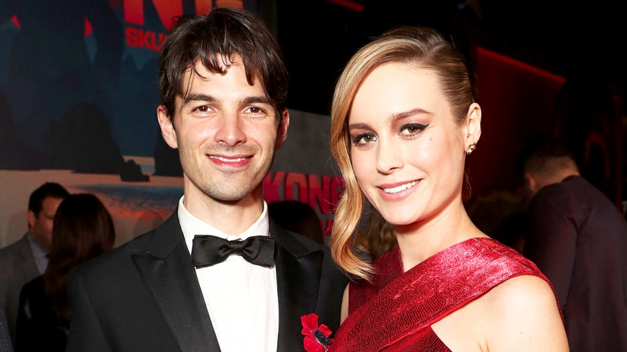"""Alex Greenwald and Brie Larson attend the 2017 premiere of Warner Bros. Pictures' """"Kong: Skull Island"""" at Dolby Theatre in Hollywood, California."""
