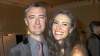 Sean Gunn and Natasha Halevi attend the 43rd Annual Saturn Awards - After Party held at The Castaway in Burbank, California.