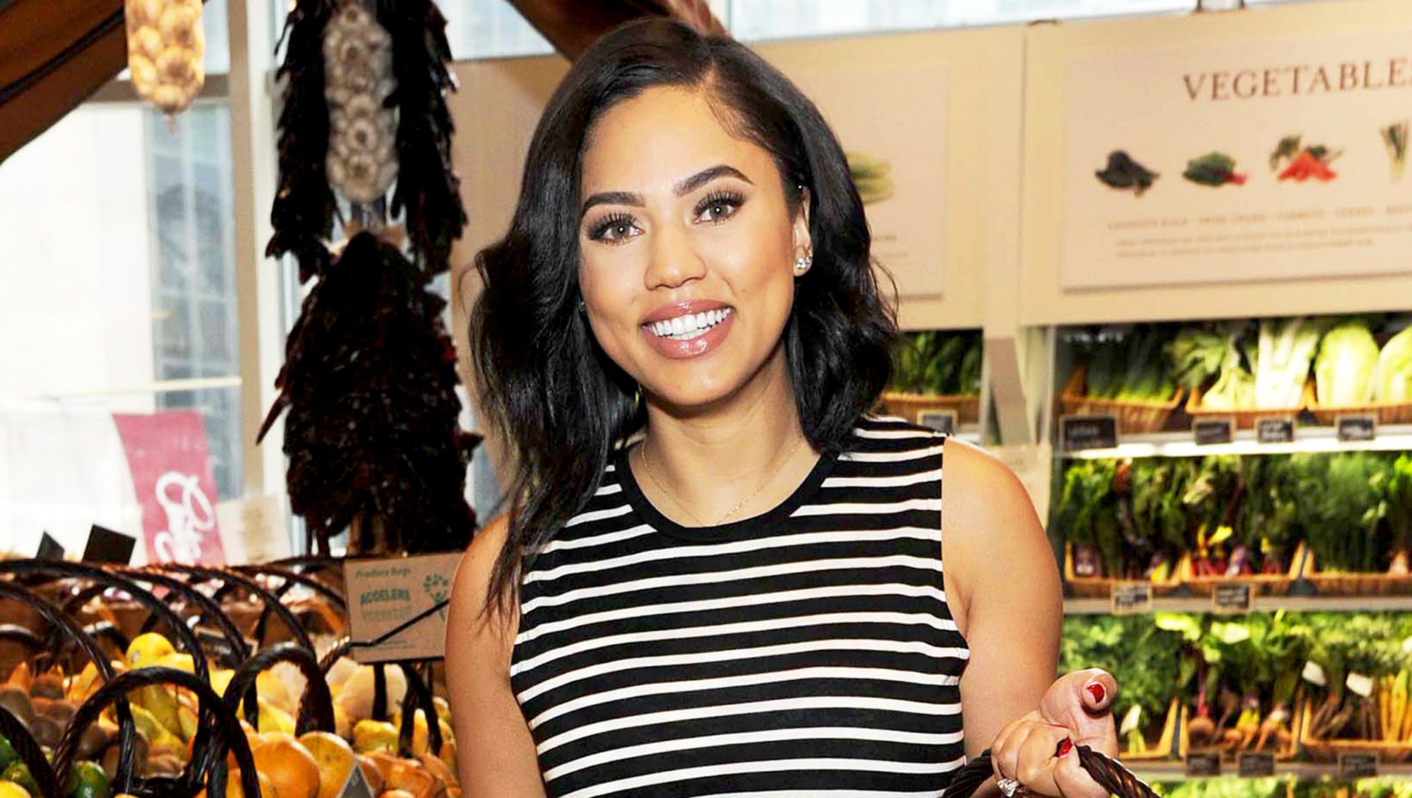 Chef and author Ayesha Curry shops in New York City on April 27, 2017.