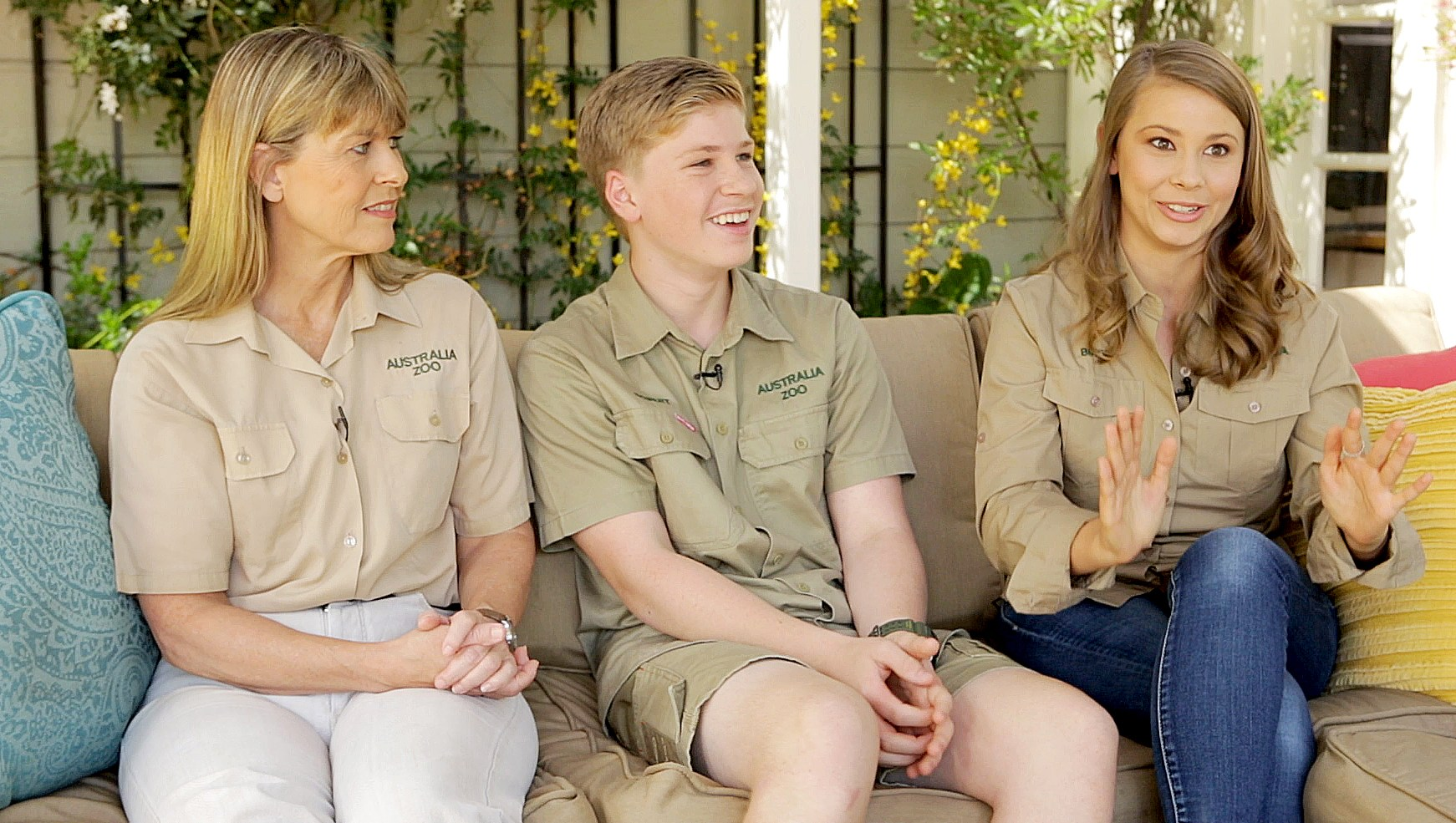 Terri, Robert, and Bindi Irwin