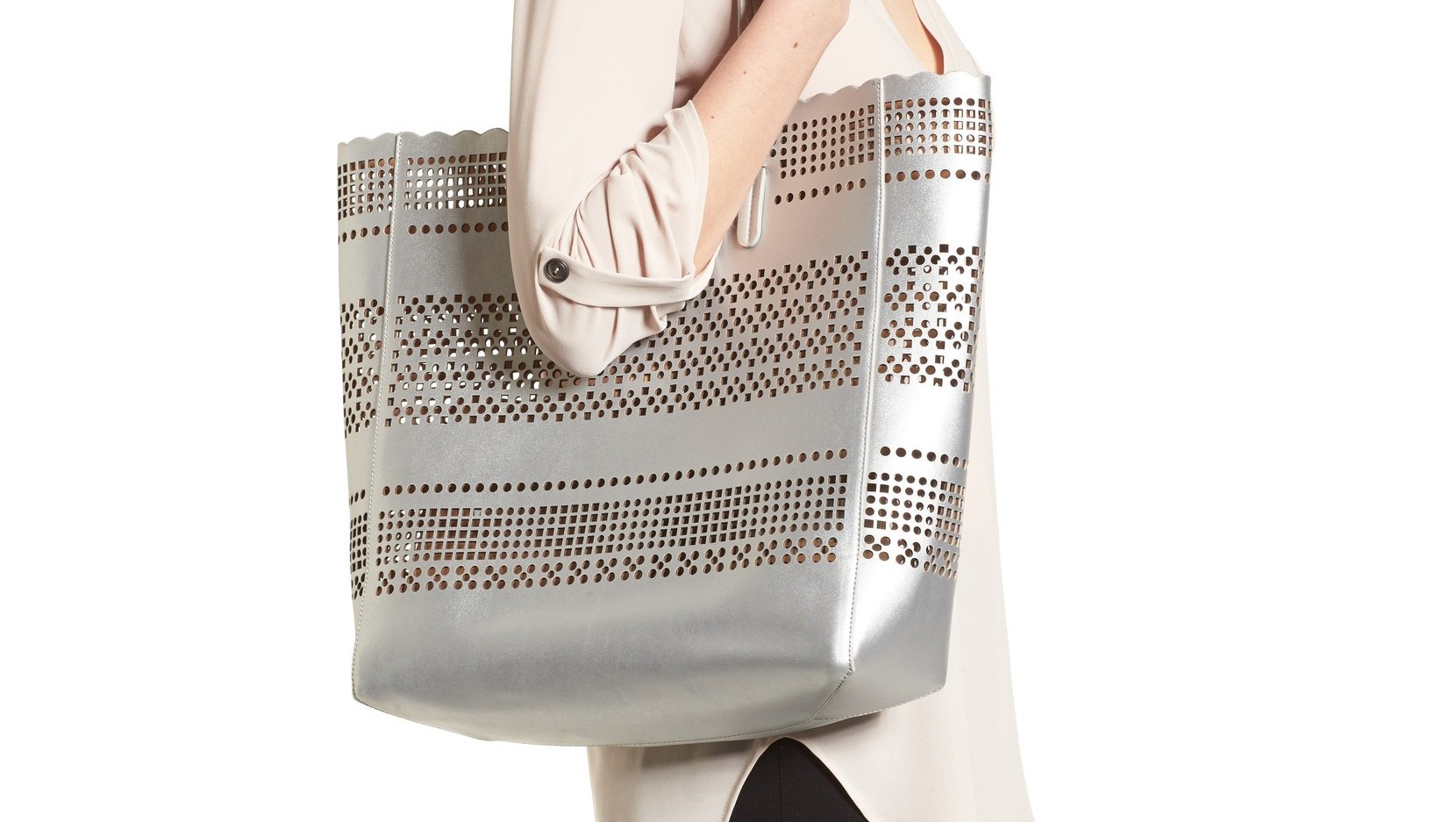 Casey-Geometric-Cutout-Faux-Leather-Tote-&-Pouch-