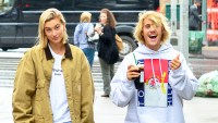 Justin Bieber and Hailey Baldwin go for walk in New York City on June 13, 2018.