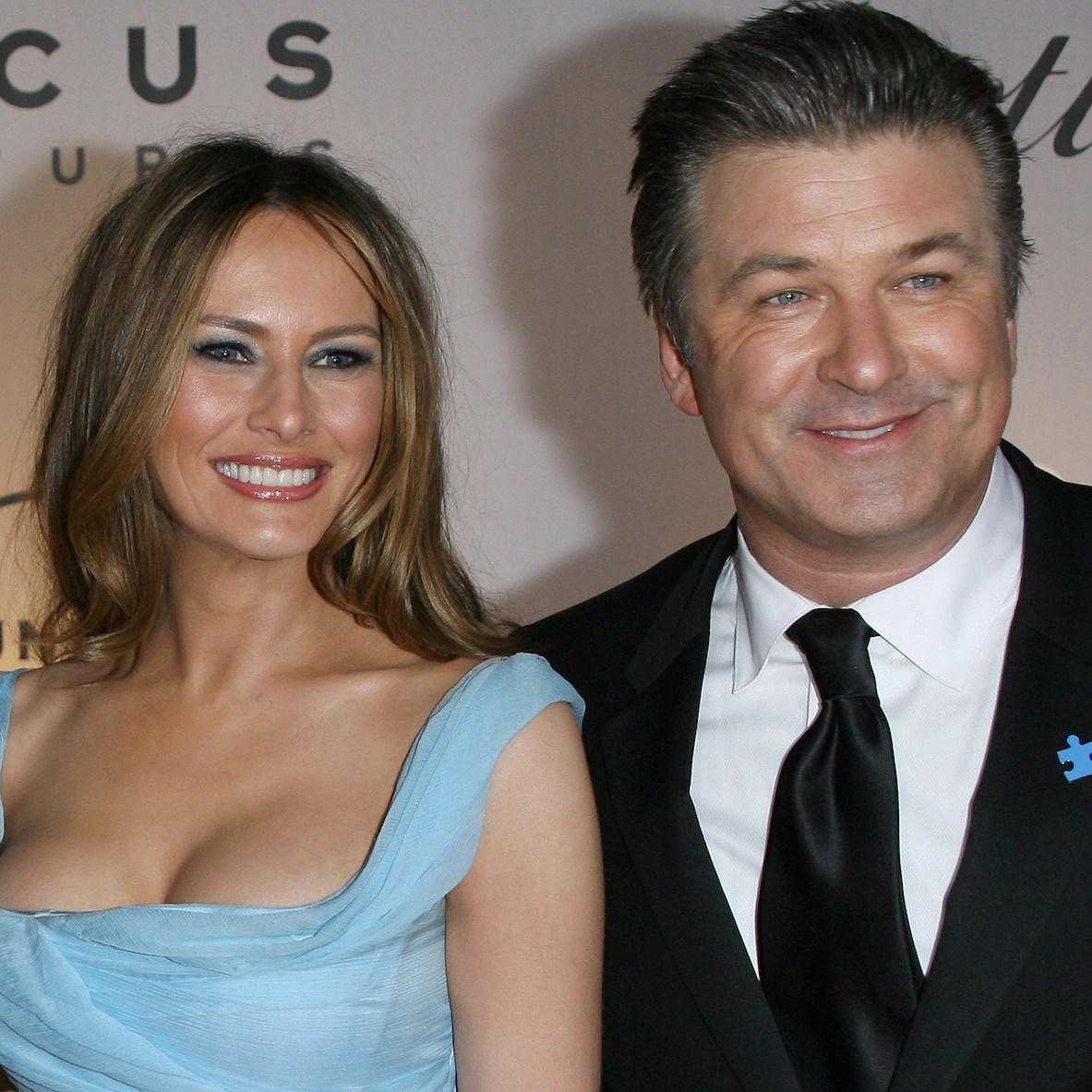 Melania Trump and Alec Baldwin