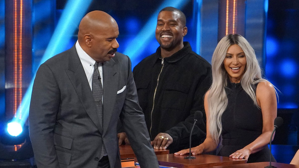 2e2b4d661b Kanye West Can't Stop Smiling on 'Celebrity Family Feud' and Twitter Loves  It