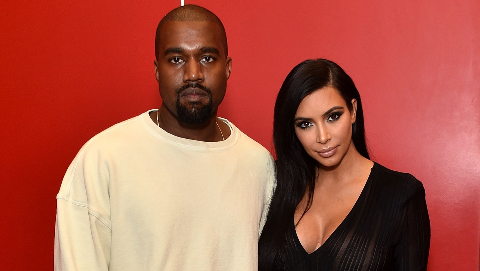 Kayne West and Kim Kardashian