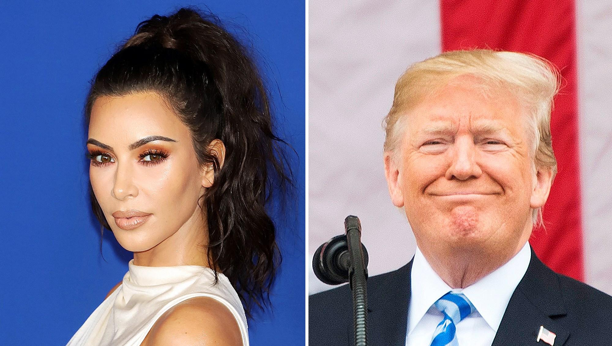 Kim Kardashian Thanks Donald Trump