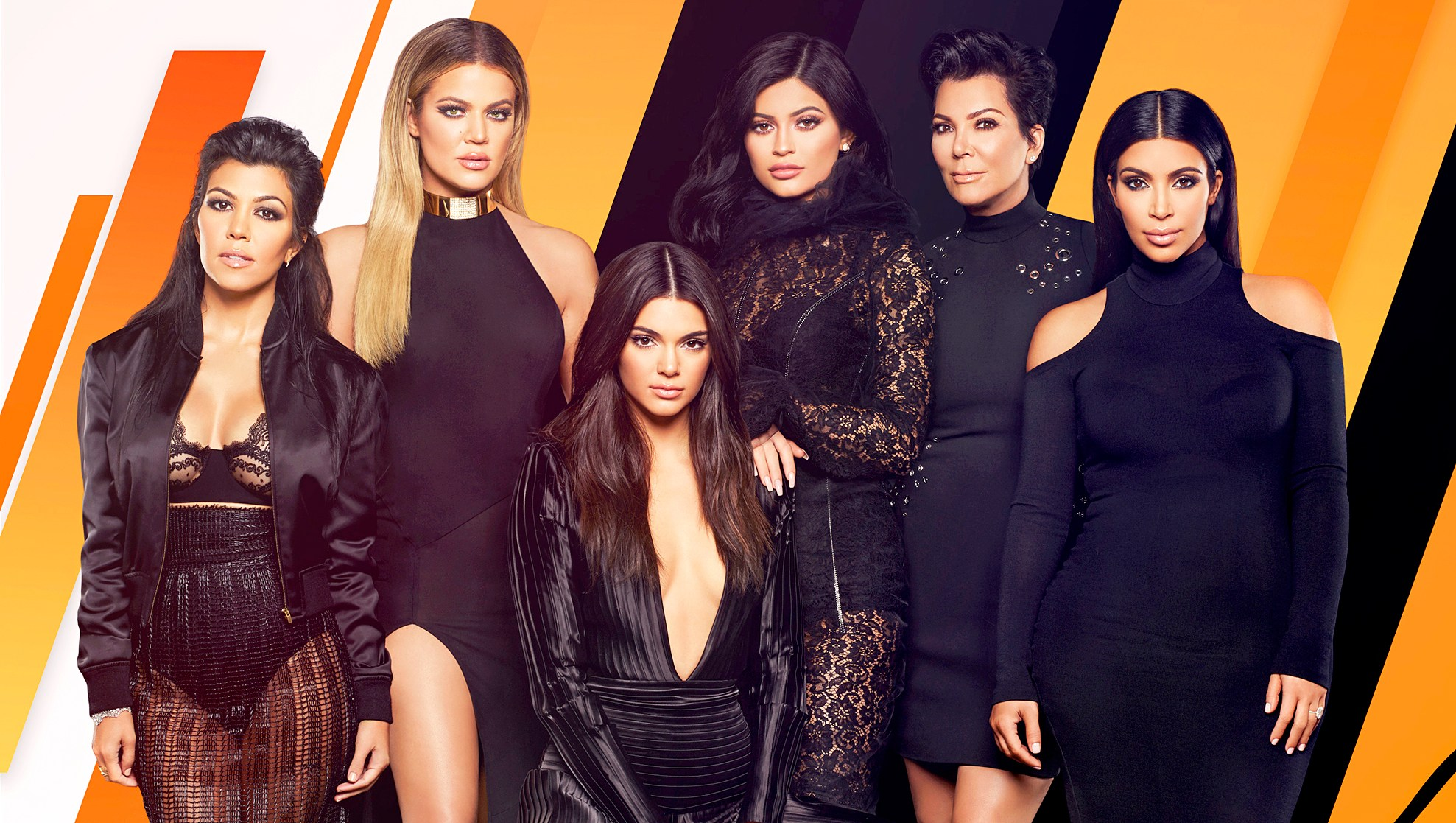 'Keeping Up With The Kardashians' stars Kourtney Kardashian, Khloe Kardashian, Kendall Jenner, Kylie Jenner, Kris Jenner and Kim Kardashian