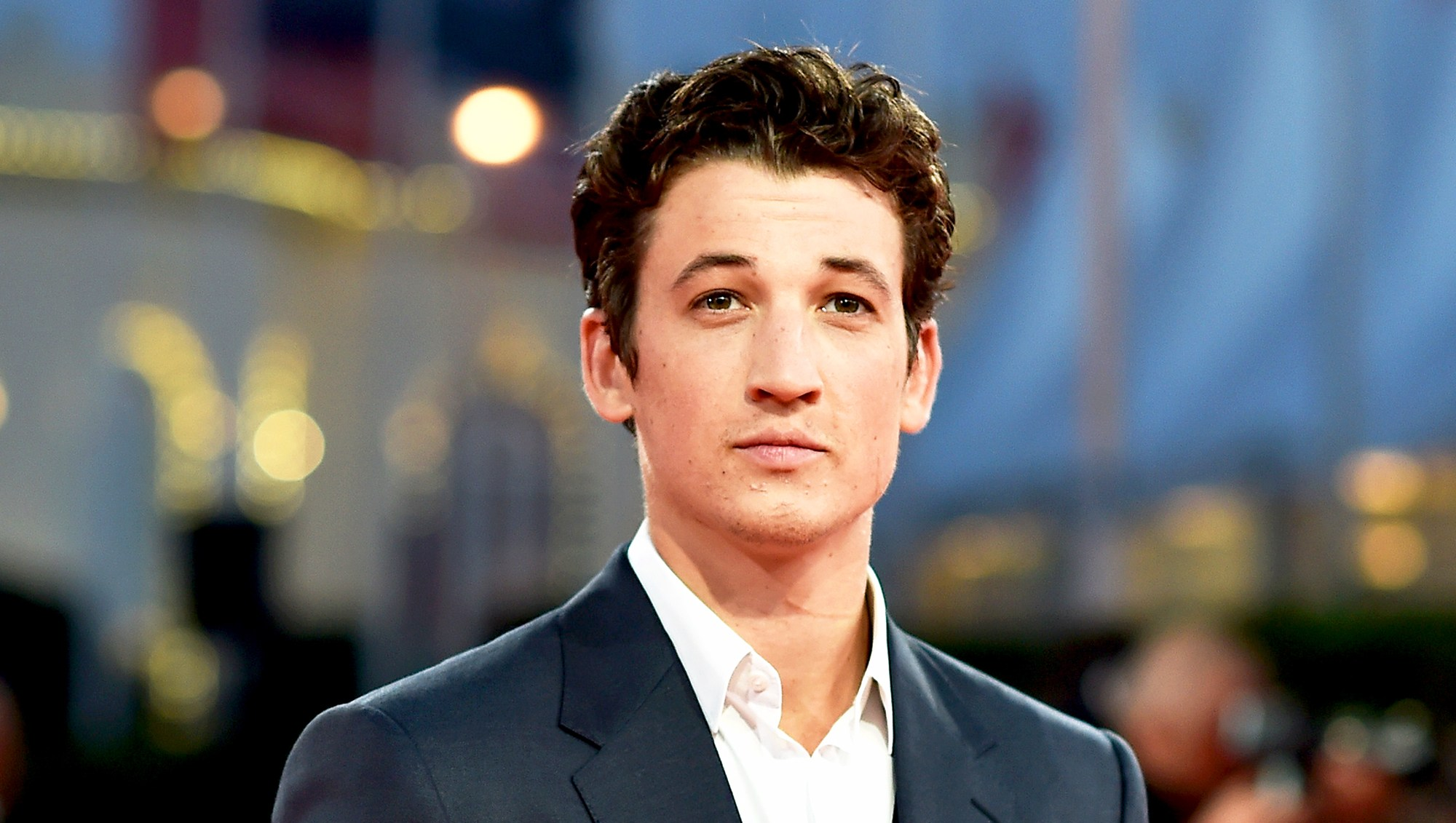 """Miles Teller attends """"The November man"""" 2014 premiere in Deauville, France."""