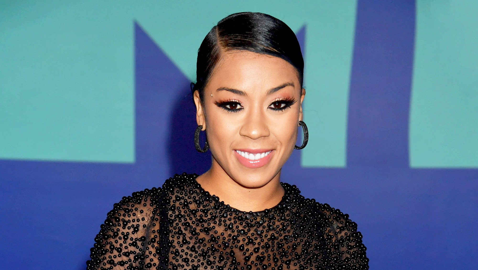 Keyshia Cole attends the 2017 MTV Video Music Awards at The Forum in Inglewood, California.