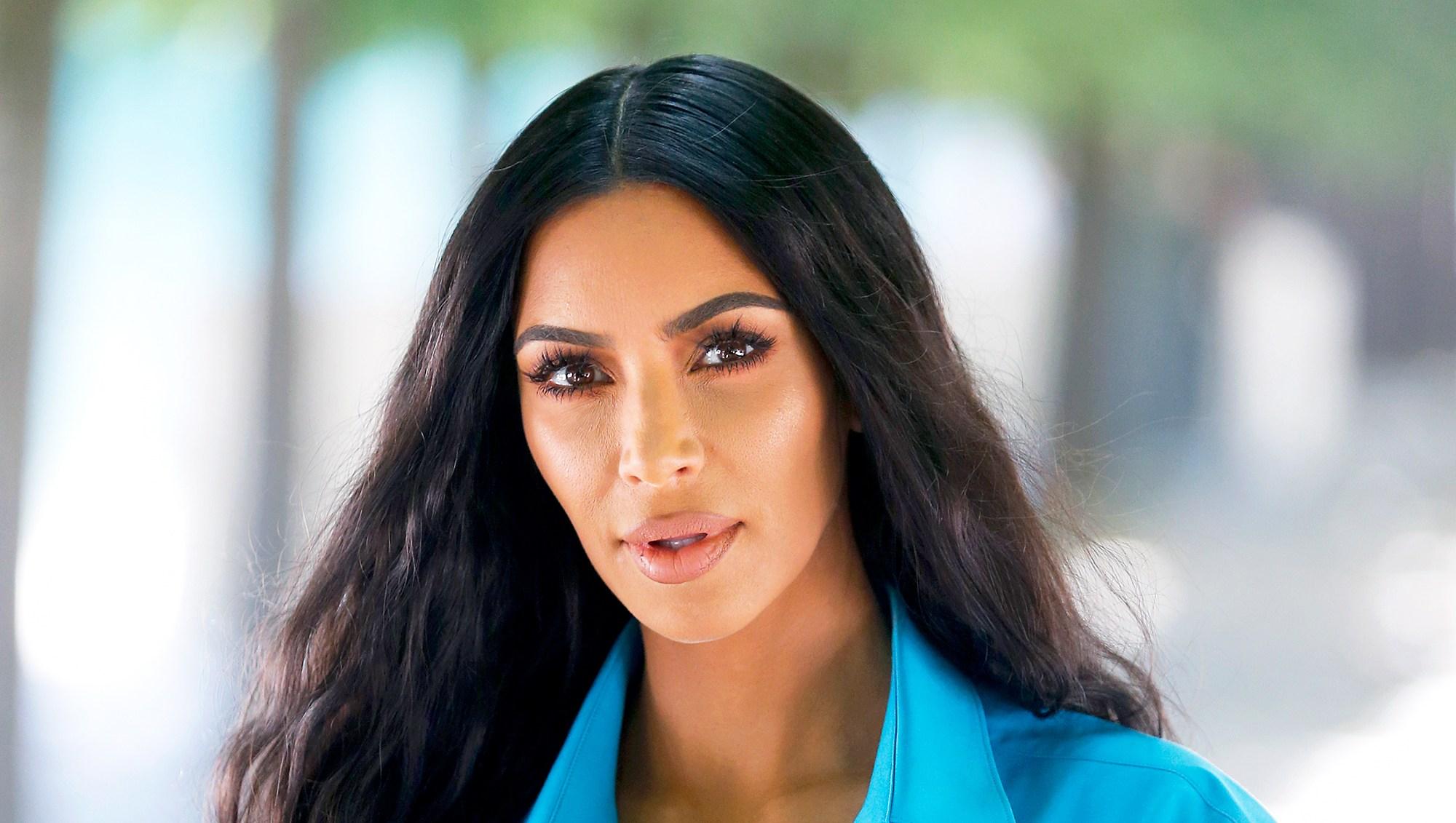 Kim Kardashian attends the Louis Vuitton Menswear Spring/Summer 2019 show as part of Paris Fashion Week Week in Paris, France.