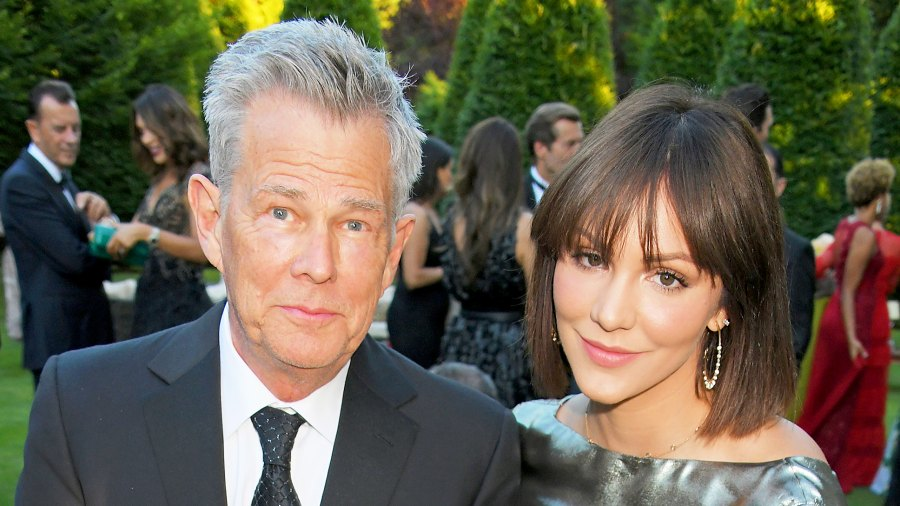 David Foster and Katharine McPhee attend the Argento Ball for the Elton John AIDS Foundation on June 27, 2018 in Windsor, England.