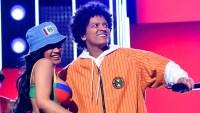 Recording artists Cardi B and Bruno Mars