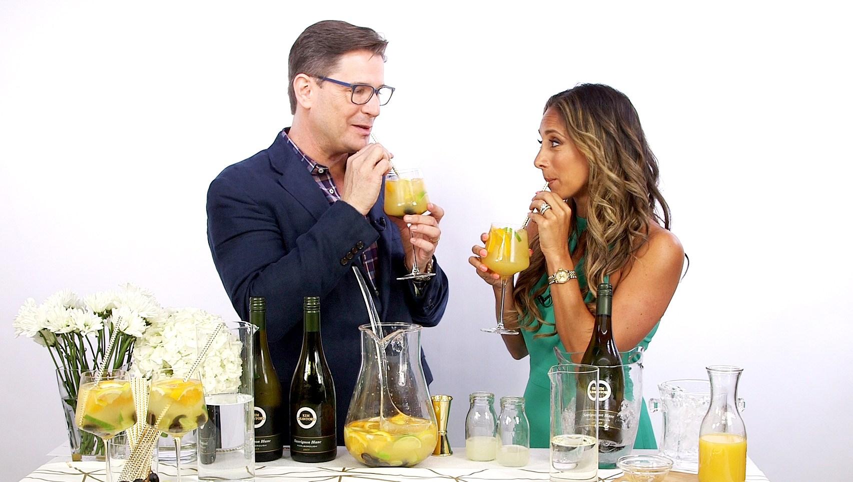 Mark Addison makes a sangarita cocktail