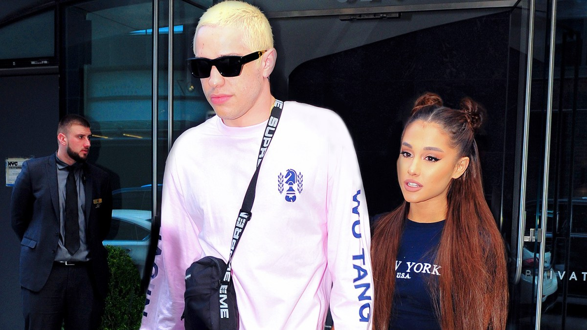 1d47cc9e1b Pete Davidson Defends Gift of Late Father s Badge to Ariana Grande