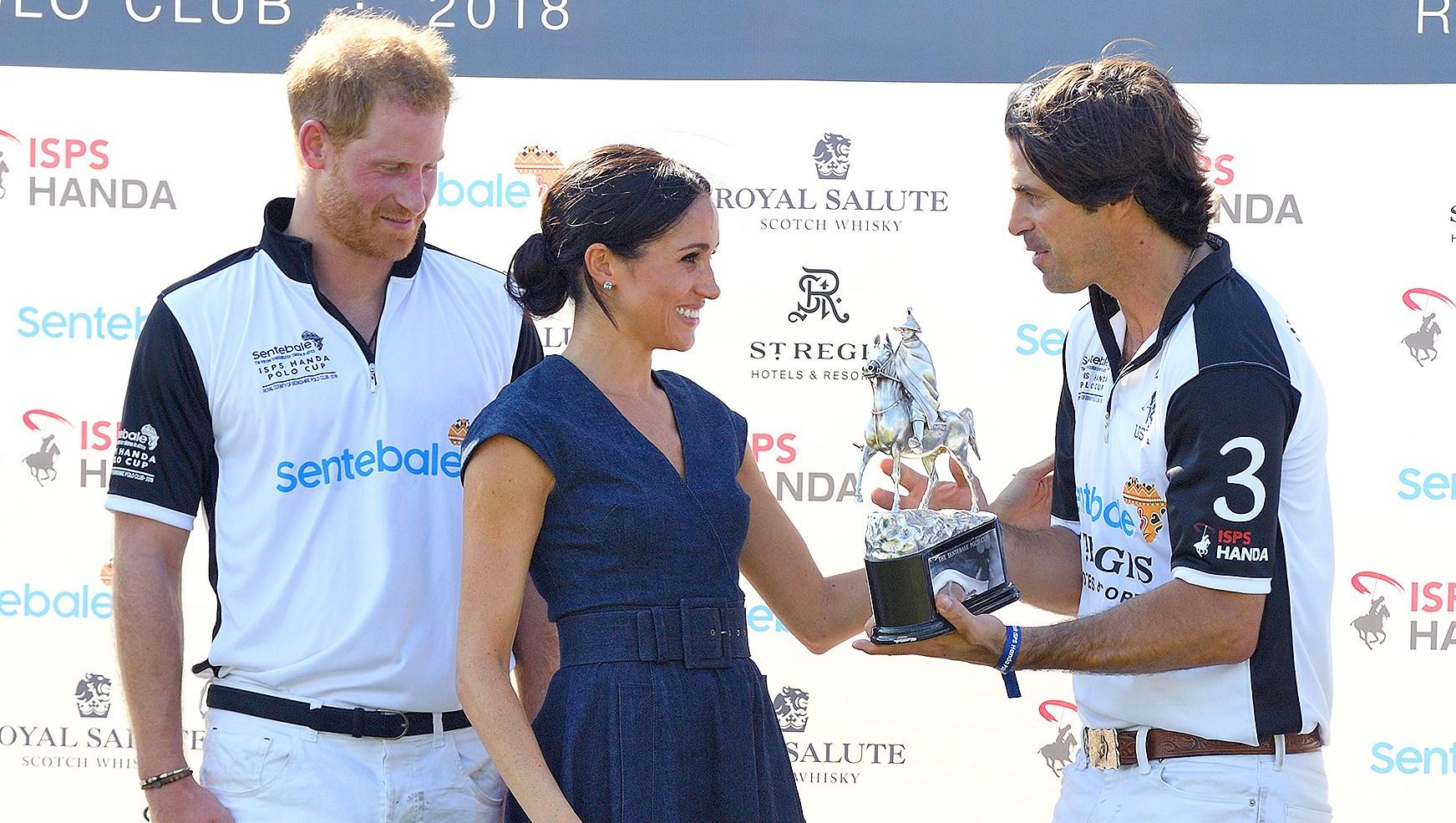 Prince William, Duchess Meghan of Sussex, Nacho, Ignacio Figueras, Trophy, Polo Club