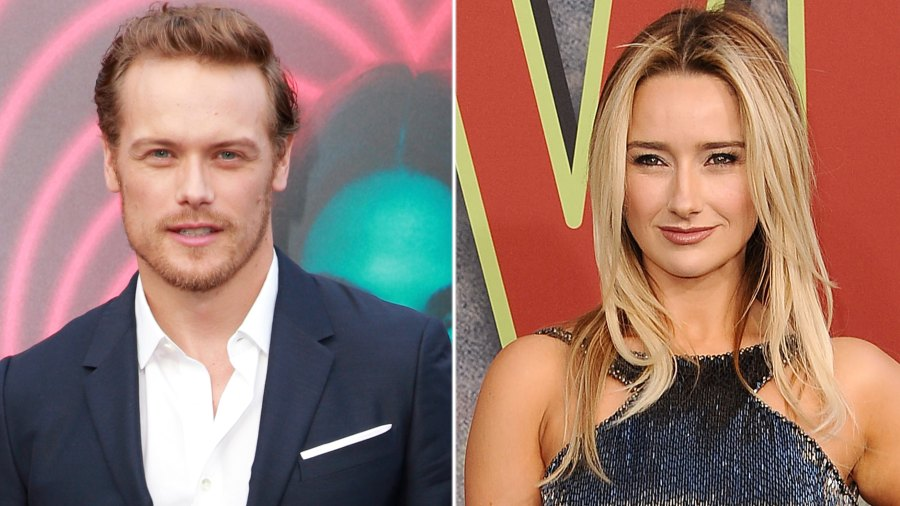 Sam Heughan and Amy Shiels