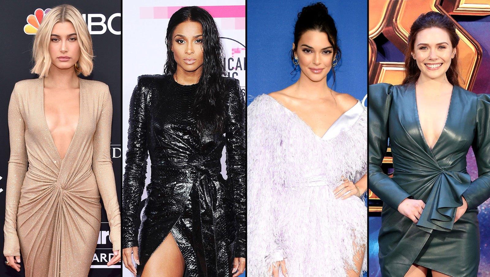 Hailey Baldwin, Ciara, Kendall Jenner and Elizabeth Olsen