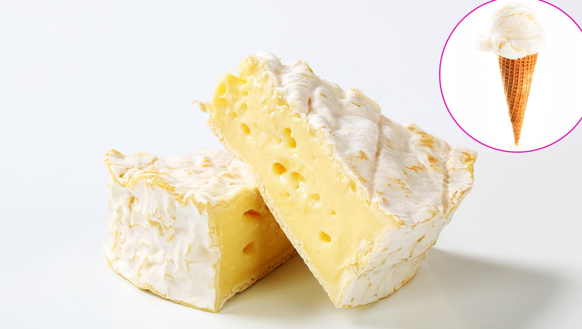 Brie Cheese Ice Cream