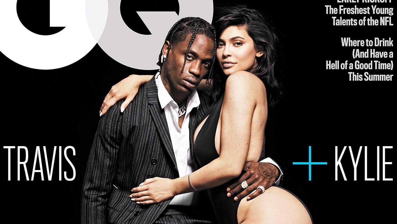 Travis Scott Kylie Jenner Leg Scar GQ Cover