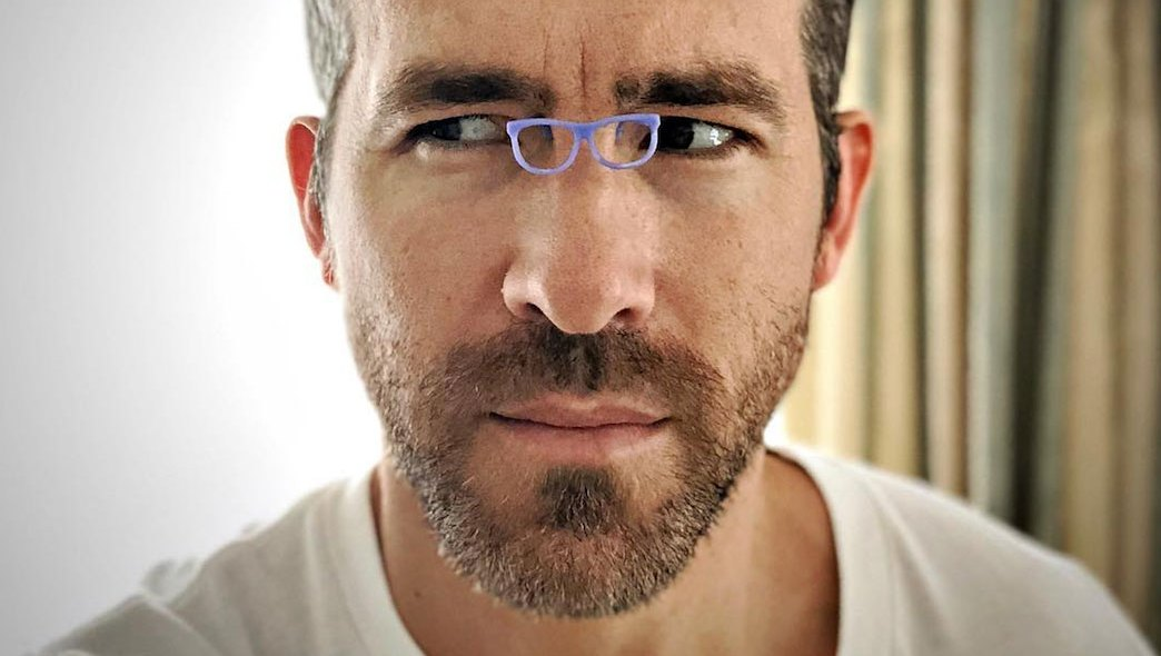 Ryan Reynolds tiny glasses
