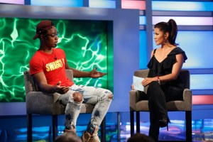 Host Julie Chen interviews Chris Williams