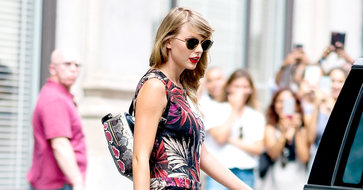 d39ff7915d96 Taylor Swift Wears Snake Backpack Two Years After Kim K's Snake Tweet