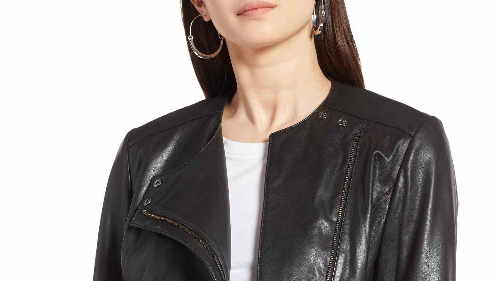 Halogen collarless jacket