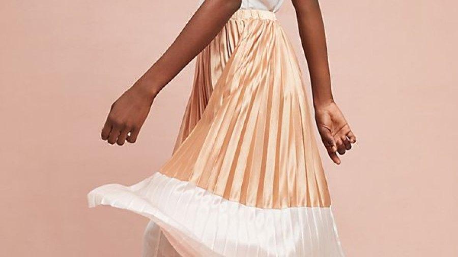Anthropologie Pleated Skirt
