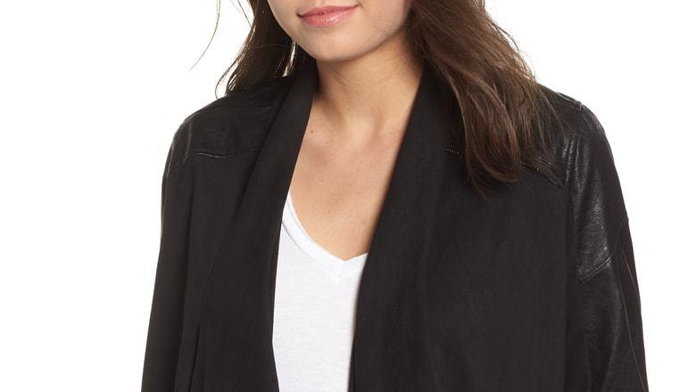 BlankNYC Drape Front Jacket