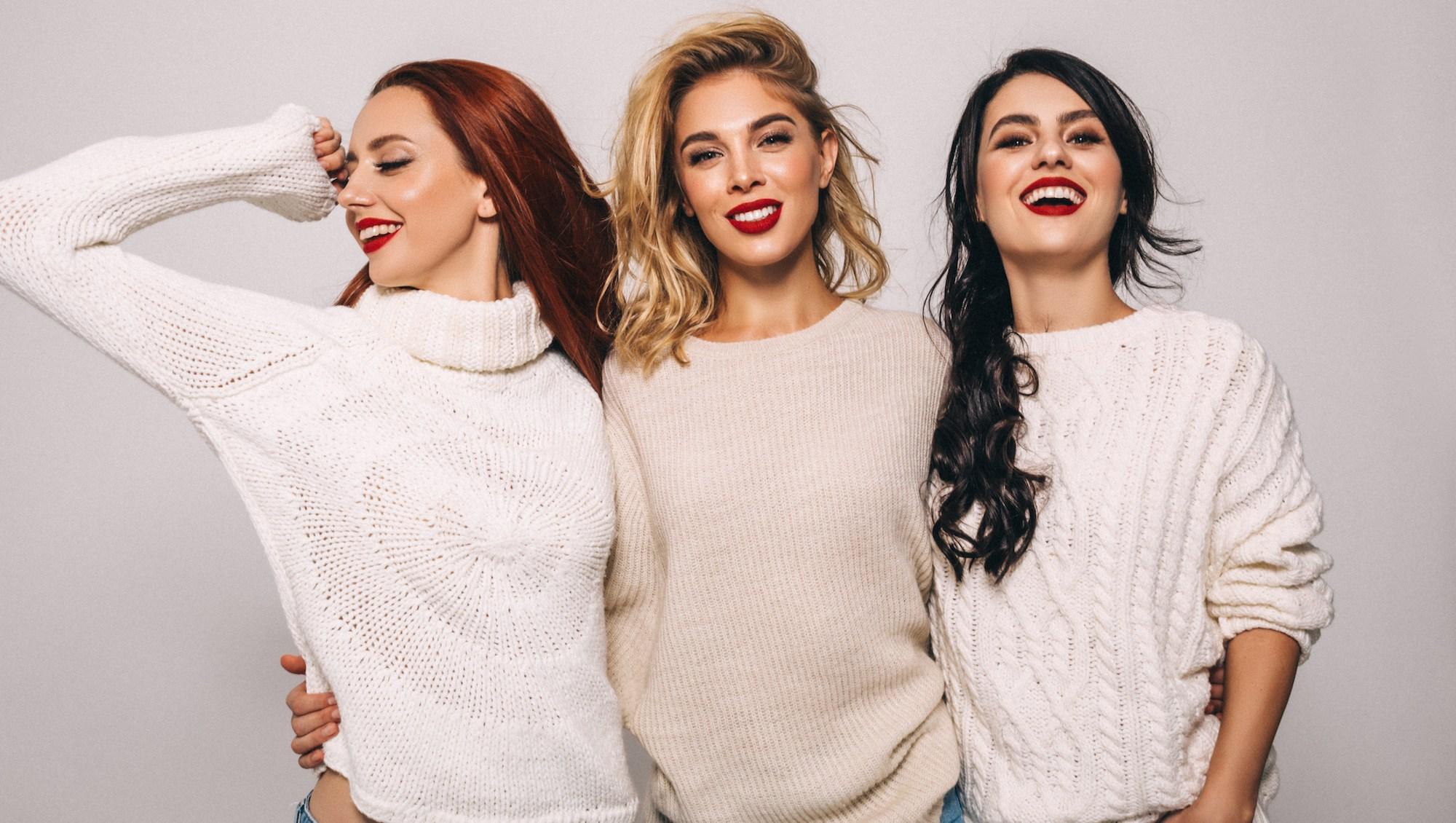 Women wearing sweaters